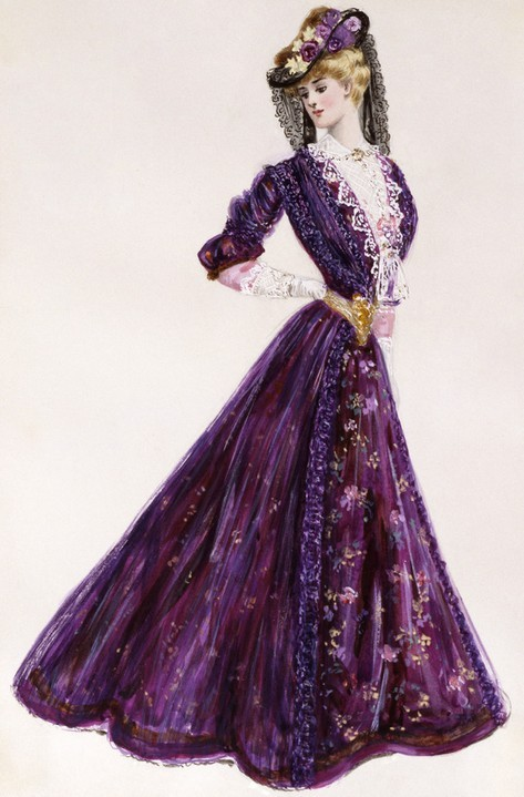 A gorgeous purple visiting ensemble by Lucile, 1905.