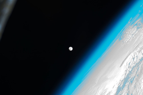 The moon, as seen from the ISS.