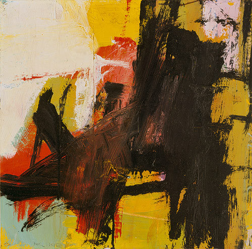 anaees:  Black Reflections, 1959Franz Kline (American, 1910–1962)Oil and pasted paper on paper, mounted on Masonite (currently on display in the Met) (via whiskeyrobot)