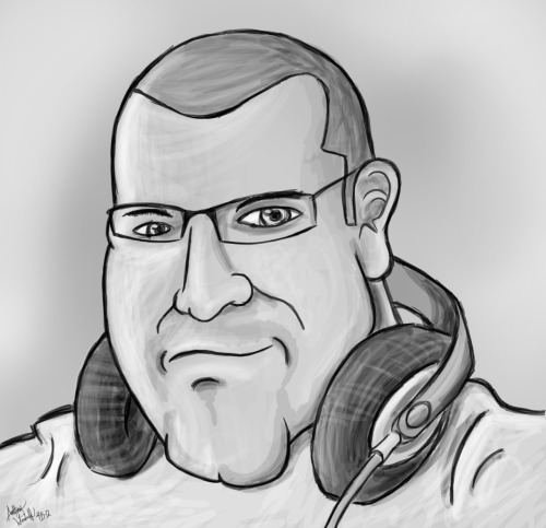 Caricature of a caricature artist:  Tim Micheal of TimMichaelArts.  Follow his blog: http://www.draw2much.com