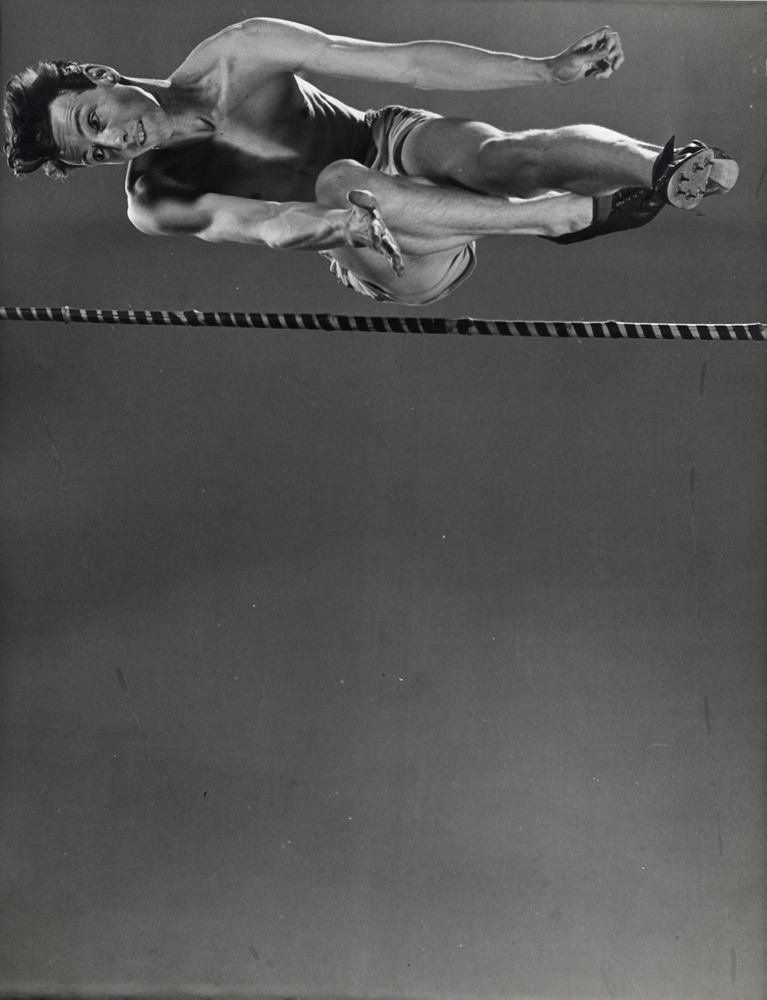 burnedshoes:  © Gjon Mili, 1939, High jumper Clarke Mallery This photograph is part of 'The Sports Show' - on view at the Minneapolis Institute of Arts through May 13, 2012. » find more exhibitions here «