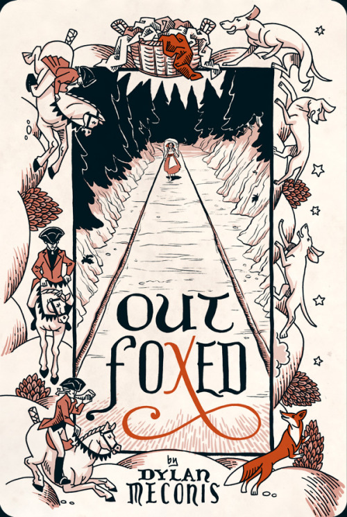 Outfoxed by Dylan Meconis (2011)  A fox fleeing a hunt seeks shelter with a washerwoman, and in twenty-two deft pages of sequential art, the two play out a dark and comic fable about what separates animal and man. The full story is available on the author's web site and has been nominated as Best Digital Comic in the 2012 Eisner Awards.
