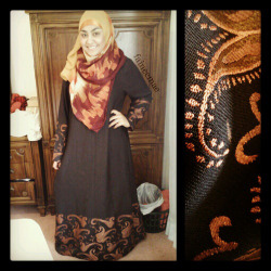 faineemae:  Going to the MCCFTS Annual Dinner to help babysit :) The Abaya was bought at ISNA, I don't remember the retailer, i'm sorry! The hijab is from LoveCulture.