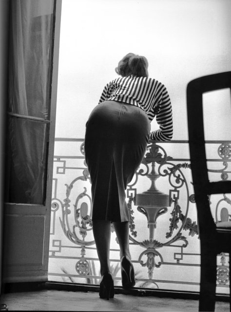 Sophia Loren at the Carlton Hotel by Edward Quinn, Cannes 1955