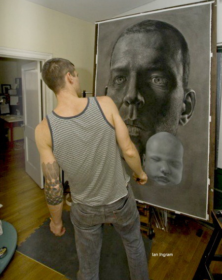 Ian Ingram in his studio