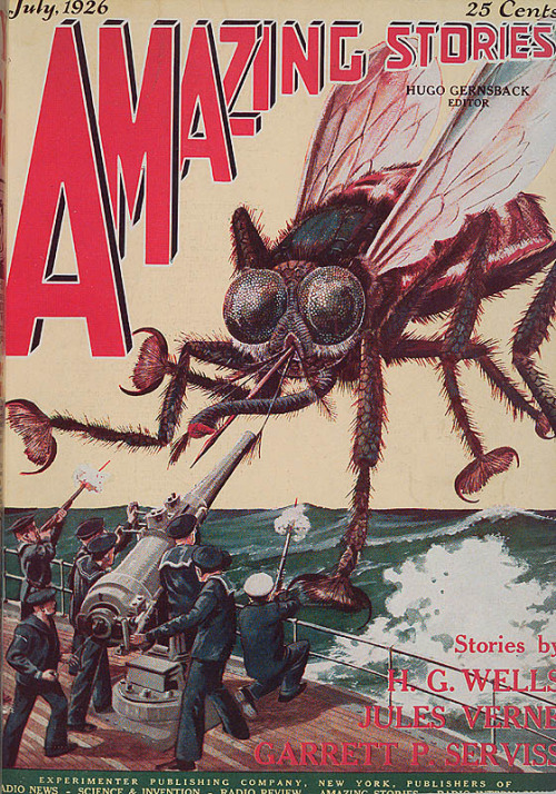 Amazing Stories cover, July 1926