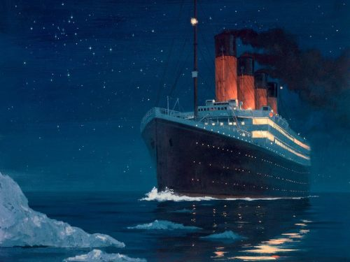100 years ago today, at 2:20am, the RMS Titanic sank in the middle of the north Atlantic after hitting an iceberg at about 11:40pm, April 14, 1912.  1,500 people died in the icy cold waters that fateful night.  May they forever rest in peace. (And yes, this is my homage on tumblr.  There are some parts of history that people seem to grab onto and obsess about, and for whatever reason, I became obsessed with the Titanic and everything about it when I was 9 years old.  Yes, part of that was because of James Cameron's epic film with heartthrob Leo and beautiful Kate, but there was something more that captured me back then than a film.  It was the 2,200 stories of the passengers on board.  And the 1,500 stories that will be lost forever.  There is something so tragic and yet somehow romantic about what happened 100 years ago, and I think that is why so many people are so fascinated by it.  And so this is me expressing my fascination.  RIP.)