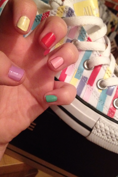 Matched my shoes and nails…sad I know but it was this or revision!