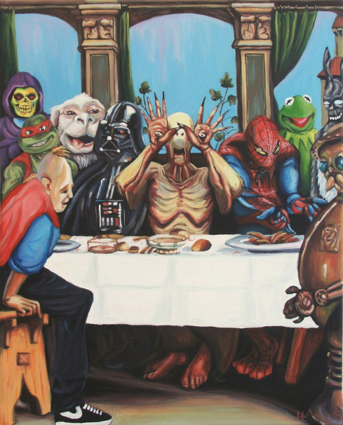 "the-absolute-best-posts:  fuckyeahpsychedelics: ""The Best Supper"" by Hillary White Follow this blog, you will love it on your dashboard"