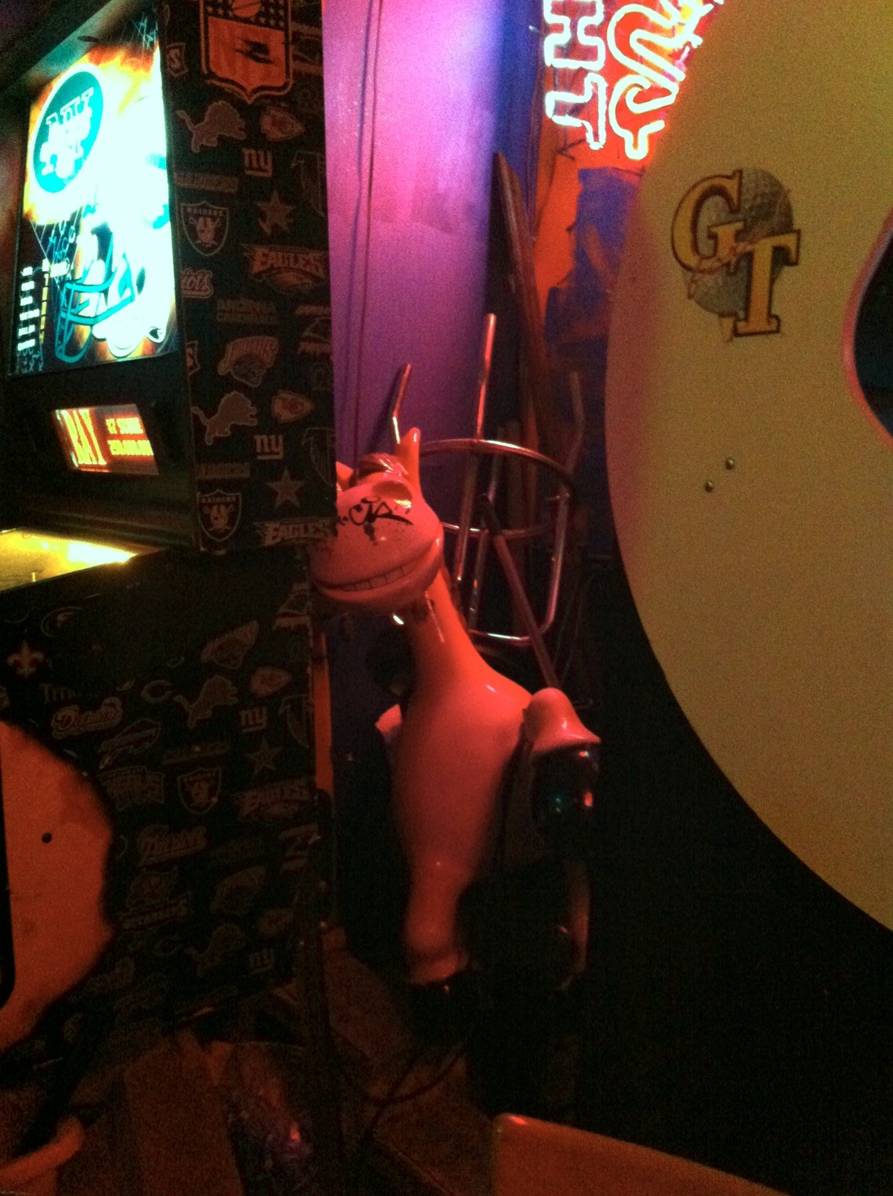 evan:  Towards the end of the night, I noticed this creepy horse thing staring at me from the corner of the bar. The next morning, when the food poisoning hit, I knew I'd made a terrible mistake.