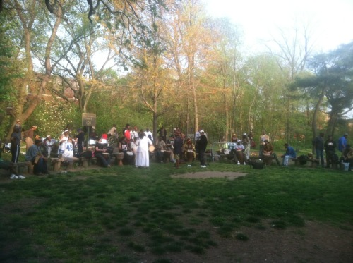 Sunday afternoon drum circle at prospect park