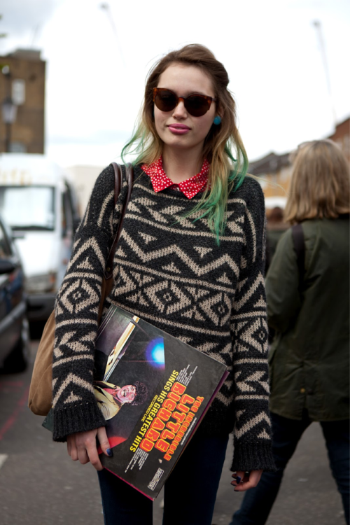 Haha heres a funny pic a street style photographer took of me on portobello yesterday!!  http://londonerphotography.blogspot.co.uk/2012/04/150-record-girl.html  PS WEARING MY FAVE BRANDYMELVILLE SWEATER :):):)