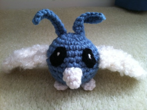Swablu crochet plush I made, for sale in my etsy! Link