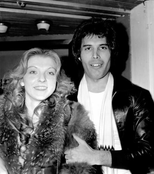 Freddie with Mary Austin (1977).