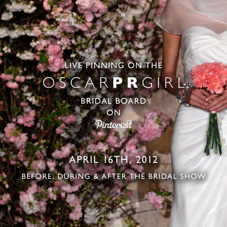 check it: we are live pinning our bridal show tomorrow @ 11am EST.  we're starting now. click here for the board.