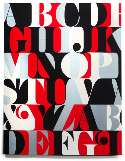 neophytou:   House Industries - Caslon Alphabet Print