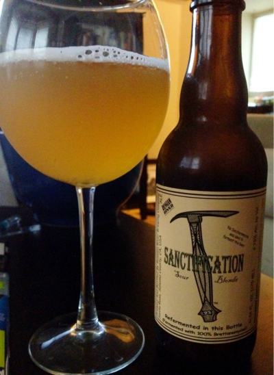 Sanctification, Russian River Brewing Company, Santa Rosa, CA, 6.75% abv. This sour blonde ale is well carbonated, tart, and surprisingly refreshing. I highly recommend this if you are nervous about trying sour beers.