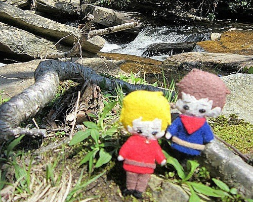 Questing through forests isn't quite as easy when you're three inches tall.  That doesn't stop Arthur from dragging bringing Merlin along, though!