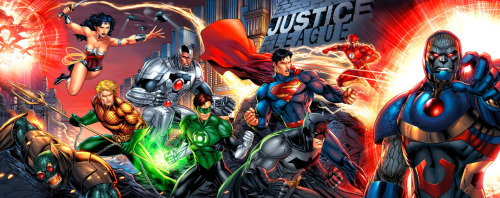 fyeahlilbitoeverything:  Justice League by Jeremy Roberts.  Thanks to stardustcrusade for finding!