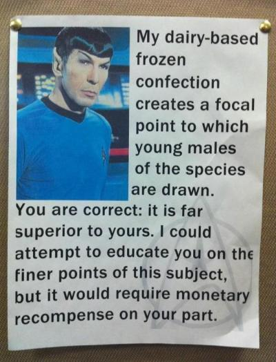 lickystickypickywe:  Trekkie fun from Takei's Facebook.