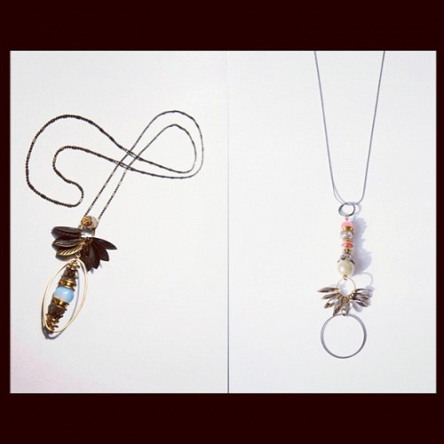 We love how delicate and sweet these La Fiancee du Facteur necklaces are! Featured here and in the shop are the Wings and the First Flying Women necklaces. #lusine #womens #accessories #ss12 (Taken with instagram)