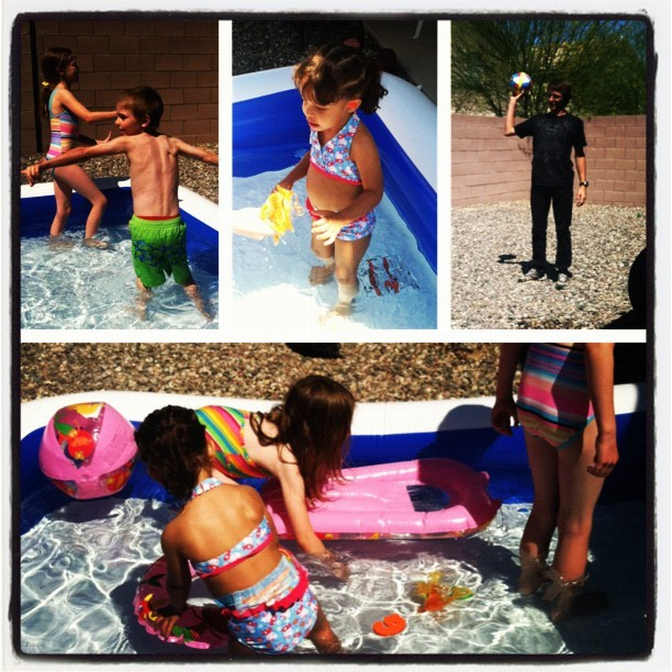 Pool time fun! #picstitch #swimming #kids #fun #spring #summer (Taken with instagram)
