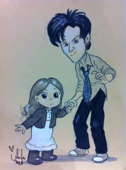 Amelia Pond & the Raggedy Doctor. Gift for Tara @c2e2