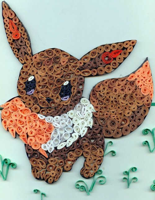 thefrozenhedgehog:  Quilling Project - Eevee by ~HappyRolyPoly