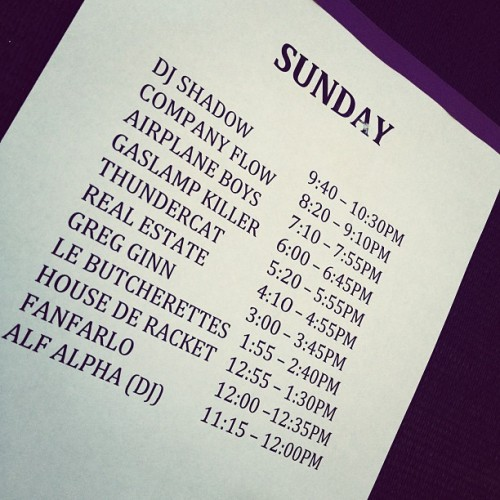 See you guys at 7:10. #coachella  (Taken with instagram)