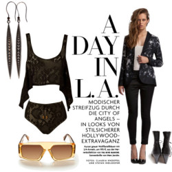 A DAY IN LA by melbgirl featuring bootie bootsNookie crop top72 AUD - thegrandsocial.com.auStylestalker234 AUD - thegrandsocial.com.auNookie49 AUD - thegrandsocial.com.auHANDSOM bootie boots235 AUD - thegrandsocial.com.auZoemou silver drop earrings93 AUD - thegrandsocial.com.auBrown shades240 AUD - thegrandsocial.com.au