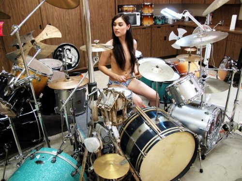 She can play Drums too…