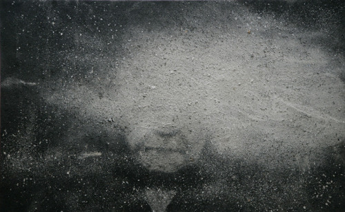 Zhang Huan. Samsara, 2007, Incense ash on canvas  From DSL Collection