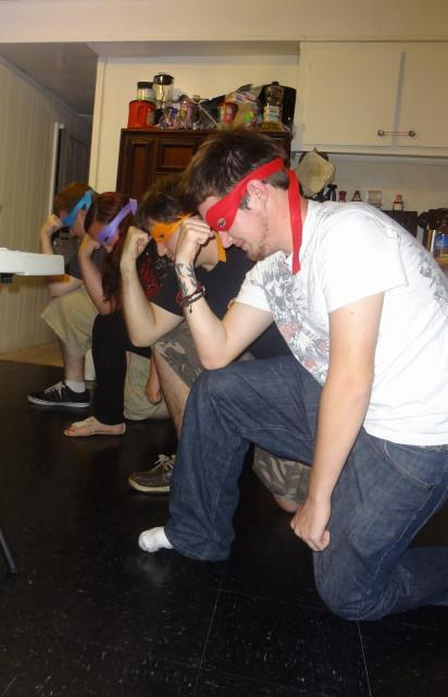 Teenage Mutant Ninja Tebowing