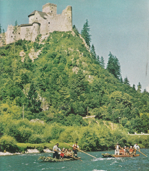 Niedzica Castle, Poland. National Geographic September 1958.