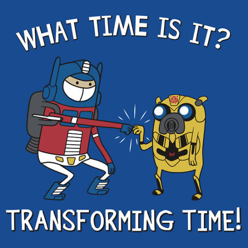 "gamefreaksnz:  It's Transforming Time! by ninjaink USD$28.21 ""Transforming Time"" is an American animated television series created by Pendleton Wardatron. The series follows the adventures of Prime, a boy whose best friend is Bee, a robot with magical powers. Prime is often described as a ""fiery little kid with strong morals,"" while Bee doesn't really say much"