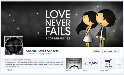 New Sheena Loves Sunsets official FB page! Like it? Then like it! :)