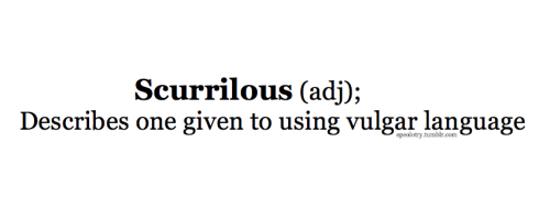 "Another definition for this would be ""humourously insulting"" follow for more rare and uncommon words source"