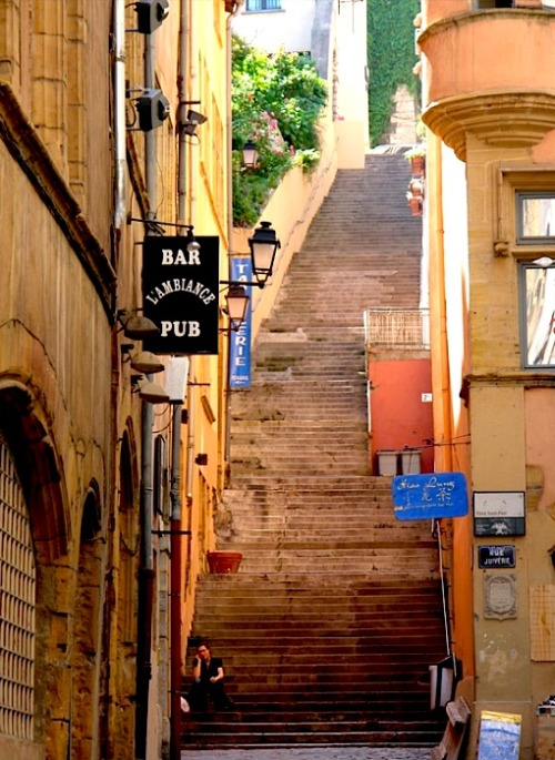 ysvoice:  | ♕ |  Old Quarter steps - Vieux Lyon  | by © e-i-k