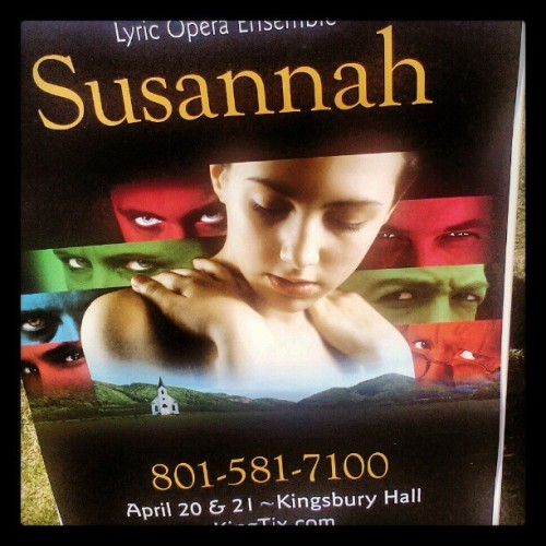 Performing this gorgeous opera this weekend (Taken with instagram)
