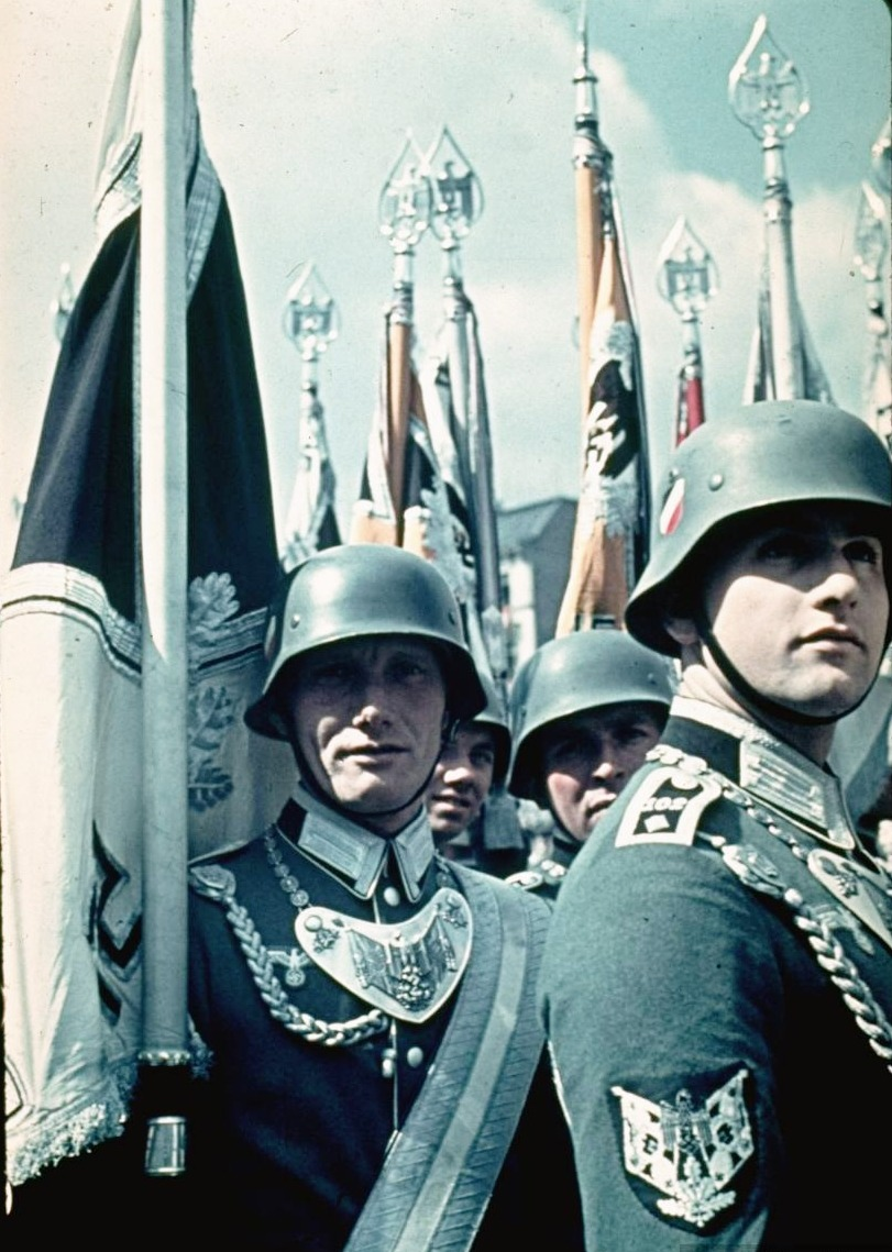 thecolorofwar:  Military demonstration at Hitler's 50th birthday celebration in Berlin.