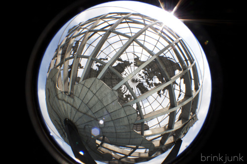 brinkjunk:  Fisheye Unisphere Shot today in Flushing on Canon Rebel T2i