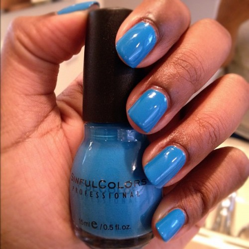 New Nail color for the week! Aquamarine by SinfulColors  (Taken with instagram)