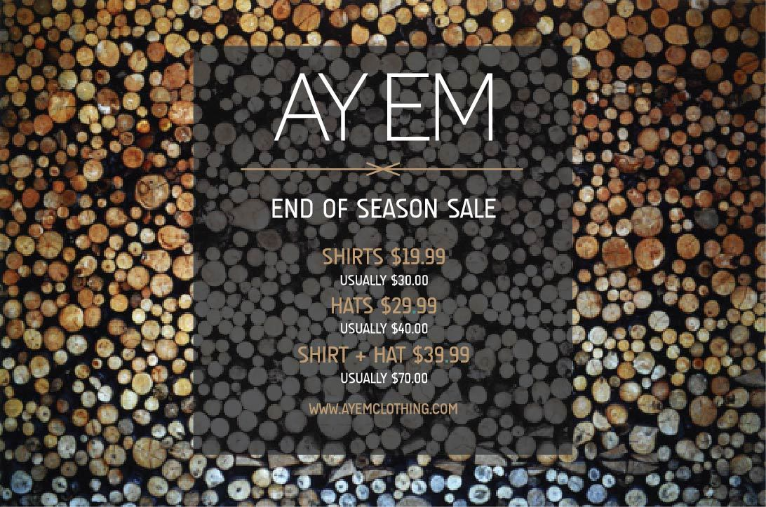 END OF SEASON SALE - STOCK LIMITED