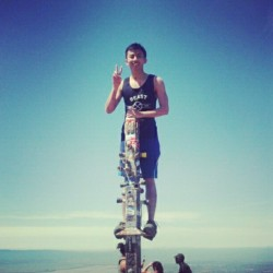 "Mission Peak @ Fremont. Instagram isn't uploading to tumblr. -__-"" I really need another bro tank. lol"