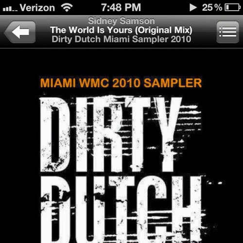 The world is yours! #sidneysamson #trackoftheday #dirtydutch #edm #electro #theworldisyours #house #takingover  (Taken with instagram)
