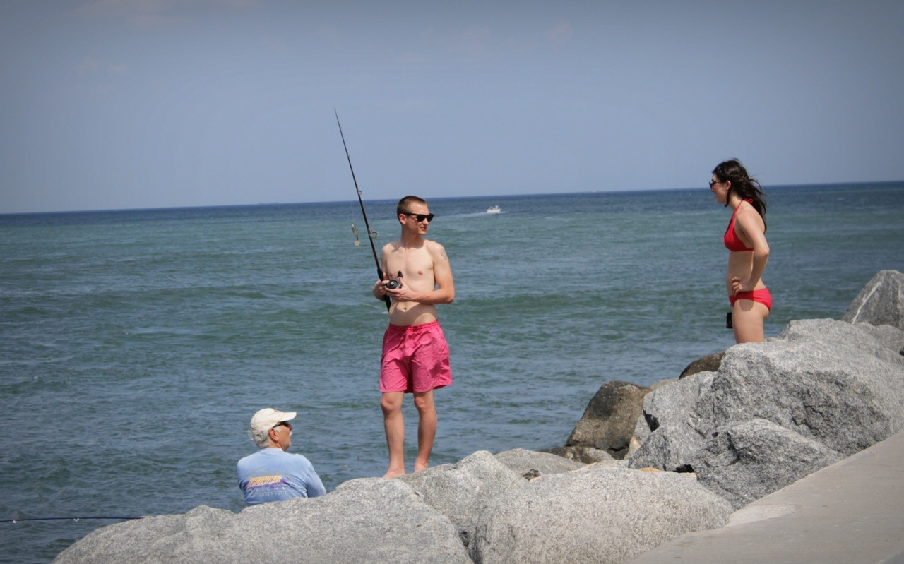 two people fishing