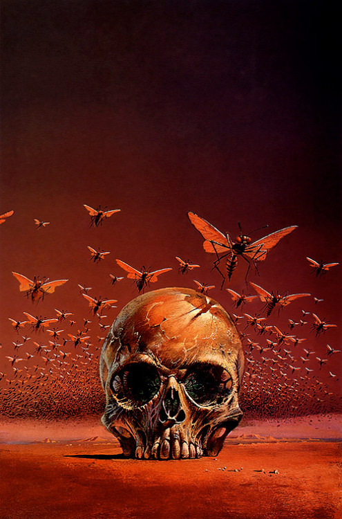 Cover art by Bruce Pennington for The Green Brain by Frank Herbert.  This is another one of those amazing pictures I found in a random place and only recently identified.