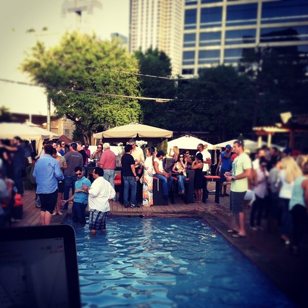 Revive pool party whaddup! Biggup dude in pool! (Taken with instagram)