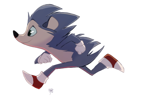 For a commission, I was asked to bring Sonic back to his hedgehog roots a bit. I liked the way it turned out, so I was allowed to post it here.