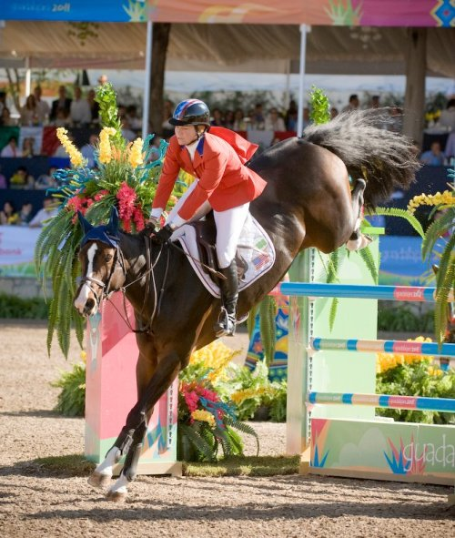 Beezie Madden and Coral Reef Via Volo photo via shannonbrinkman.net